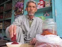 A saffron trader in Srinagar. - Athar Parvaiz/IPS.