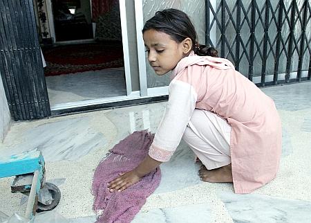 A Pakistani child domestic worker. / Credit:Fahim Siddiqi /IPS