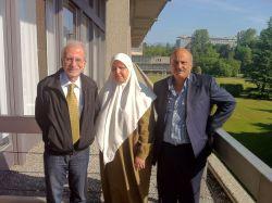 From left to right: Ghassan Slaiby, Nassira Ghozlane and Belgacem Afaya.  - Isolda Agazzi/IPS